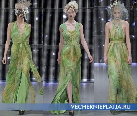 Зеленое летнее платье, Ashley Isham