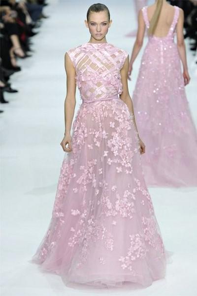 Сиреневое свадебное платье от Эли Сааб (Elie Saab)