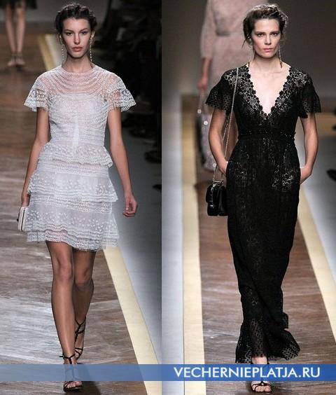 Кружевные платья 2012 от Валентино