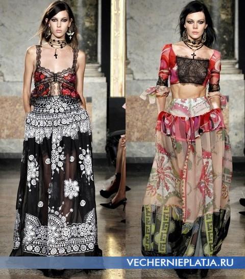 Длинные кружевные платья 2012 от Emilio Pucci