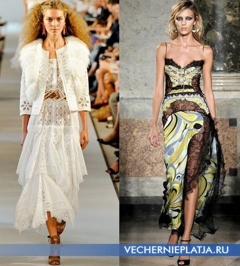 Кужевные платья 2012 от Oscar de la Renta, Emilio Pucci