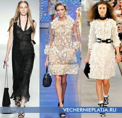 Платья из кружева 2012 от Alberta Ferretti, Dolce Gabbana, Oscar de la Renta