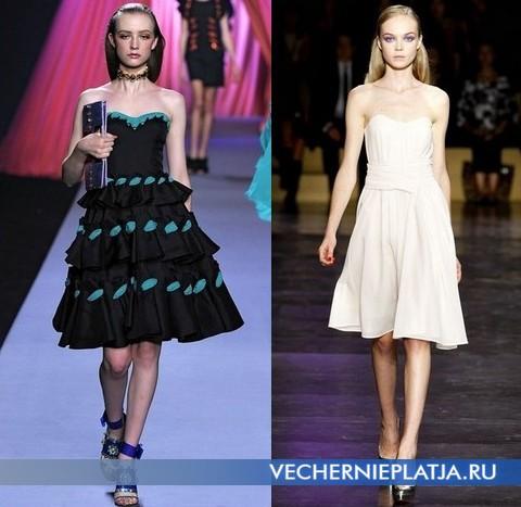 Модные платья бюстье от Viktor & Rolf и Cacharel