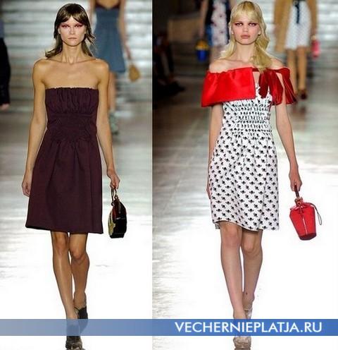 Короткие платья бюстье 2012 от Миу Миу