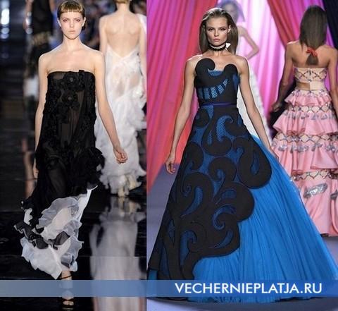 Вечерние платья бюстье от John Galliano и Viktor & Rolf