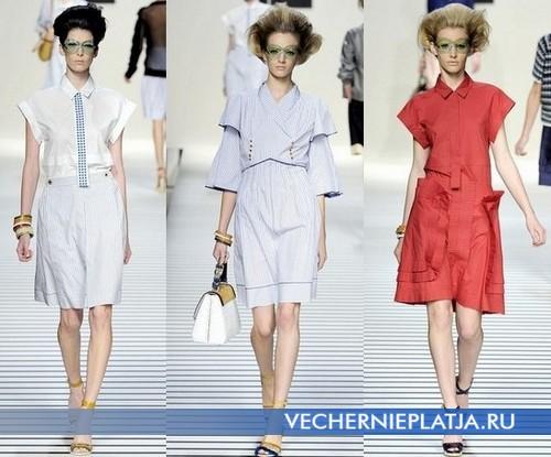 Платья рубашки от Fendi, Весна-Лето 2012