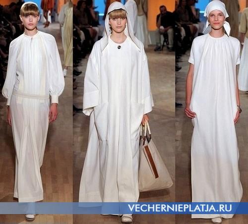 Длинные платья рубашки от Hermes, Весна-Лето 2012