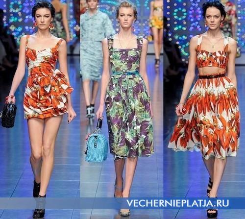 Платья с квадратным вырезом 2012 Dolce & Gabbana