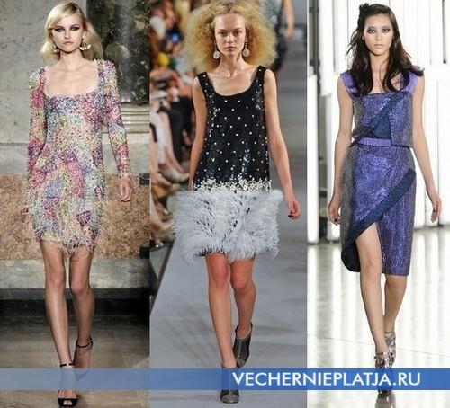 Вечерние платья с квадратным вырезом от Emilio Pucci, Oscar de le Renta, Rodarte