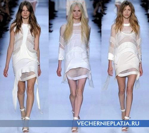 Белые платья туники от Givenchy