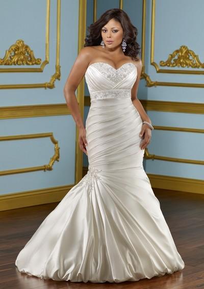 Свадебное платье русалка для полных 2012