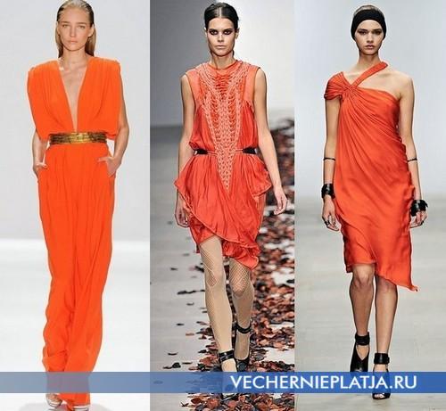 Аксессуары к платьям оранжевого цвета Carlos Miele, Bora Aksu, Amanda Wakeley