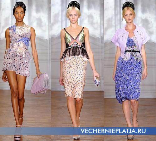 Модные летние платья с баской Весна-Лето 2012 от Nina Ricci