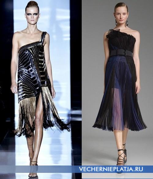 Вечерние открытые платья от Gucci и Donna Caran