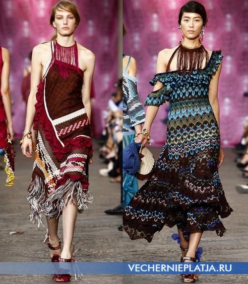 Летние платья с открытыми плечами для вечеринок от Missoni