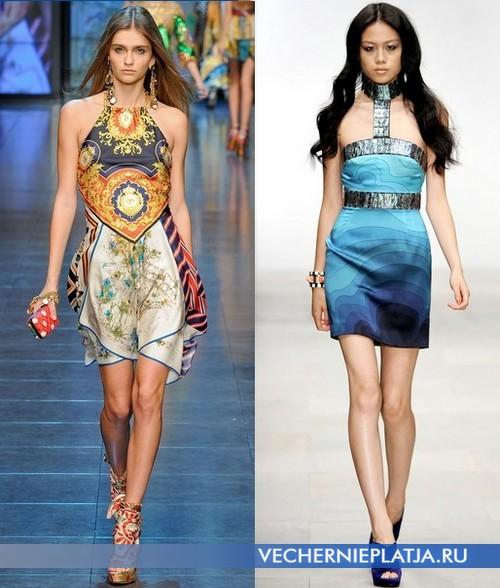 Короткие открытые платья от Dolce&Gabbana и Holly Fulton