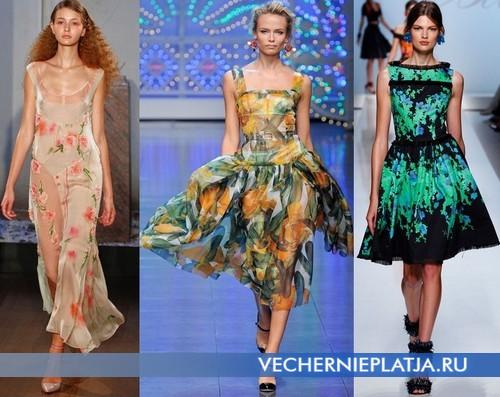 Платья с красивым принтом Весна-Лето 2012 от Philosophy by Alberta Ferretti, Dolce&Gabbana, Bluemarine