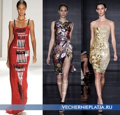 Модные платья с принтом от Сarolina Herera и Reem Acra