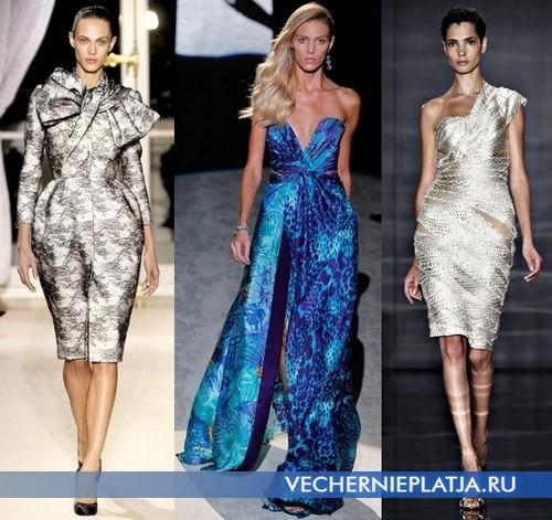Вечерние платья с ярким принтом 2012 от Valli, Salvatore Ferragamo, Reem Acra