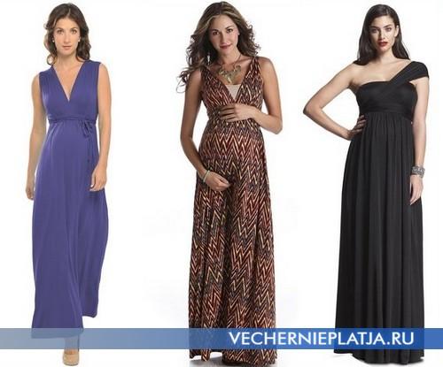 Платья для беременных летние длинные