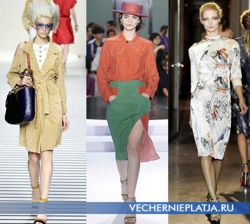 Какие платья модны летом 2012 года – Fendi, Kenzo, Rue du Mail