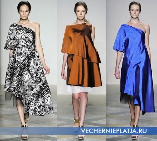 Ассиметричные платья, модные этим летом 2012 – коллекция Albino