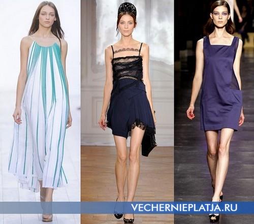 Какие платья и сарафаны модны летом 2012 - Chloe, Nina Ricci, Cacharel.