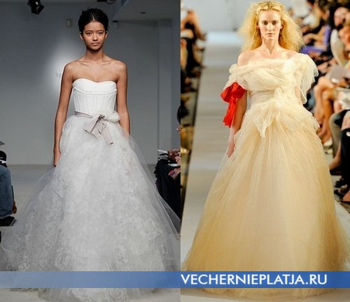 Какие в моде свадебные платья – коллекция Vera Wang и Oscar de la Renta