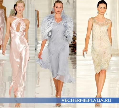 Какие ткани для вечерних платьев в моде в 2012 – коллекция Ralph Lauren