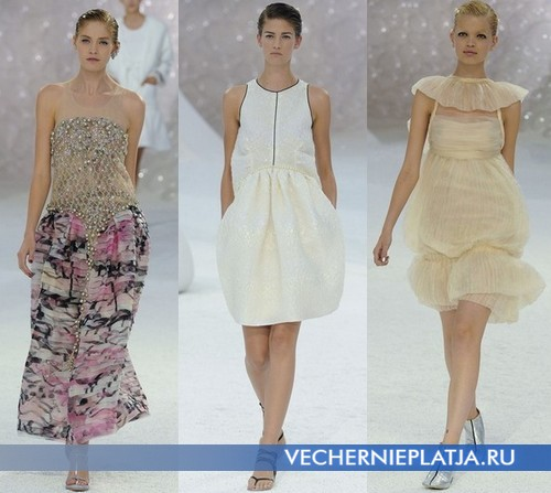 Платье баллон в коллекции Весна-Лето 2012 от Chanel