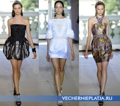 Короткие платья с юбкой баллон от Andrew Gn