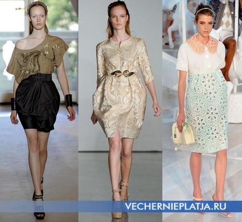 Платье баллон с чем носить, платья-баллон 2012 от Andrew Gn, Aquilano Rimondi, Louis Vuitton
