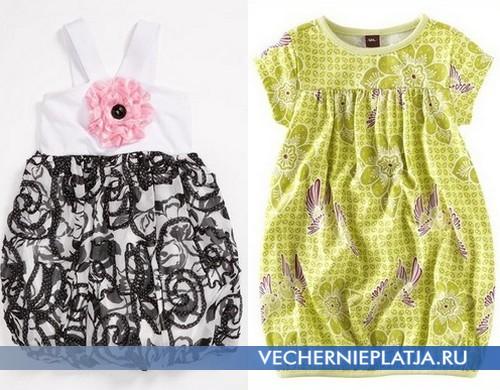 Платье-баллон для девочки, красивое детское платье-баллон