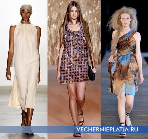 Платья туники в стиле сафари от Matthew Ames, Anna Sui, Diesel Black Gold