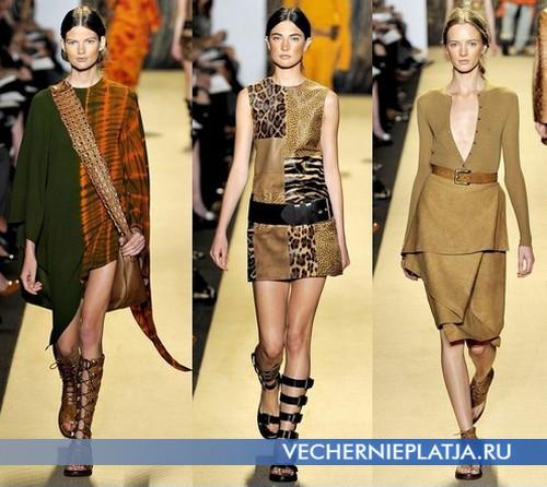 Сафари платья 2012 с чем носить, платья от Michael Kors