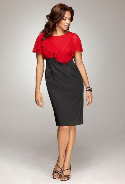Вечерние короткие платья 2012 для полных девушек.
