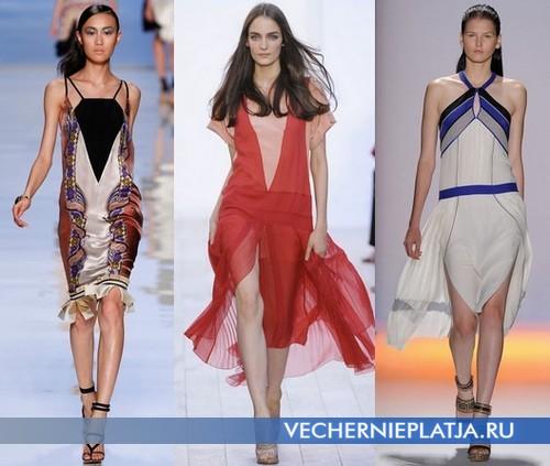 Платья с низкой талией от Etro, Chloe, Max Azria