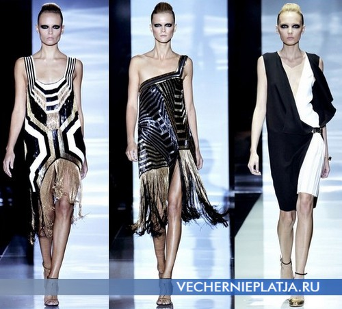 Вечерние платья с заниженной талией 2012 от Gucci