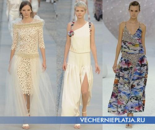 Фасоны платьев с заниженной талией от Chanel