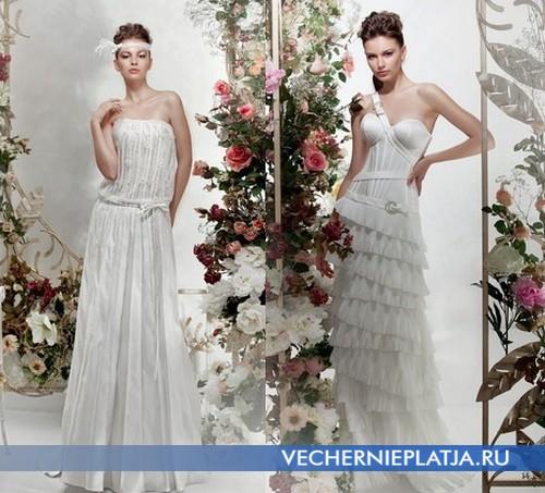 Свадебные платья с заниженной талией от Папилио