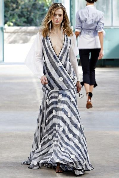 Платье в полоску от Alexis Mabille