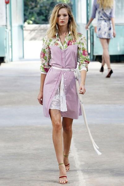 Модное платье в полоску от Алексис Мэбайл (Alexis Mabille)
