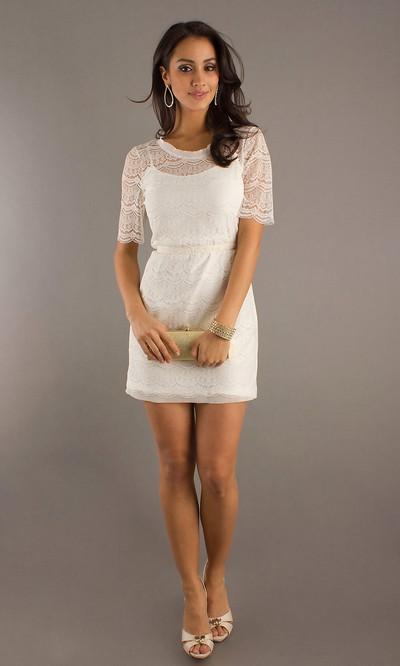 Кружевные белые мини платья 2012 года