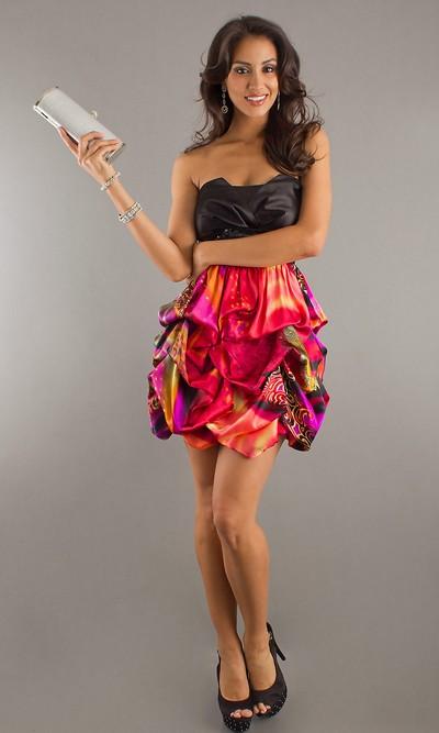Вечернее платье мини 2012 фото