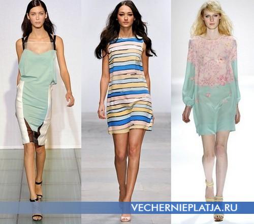 Платья на лето 2012 пастельные от Costume National, Issa, Jill Stuart