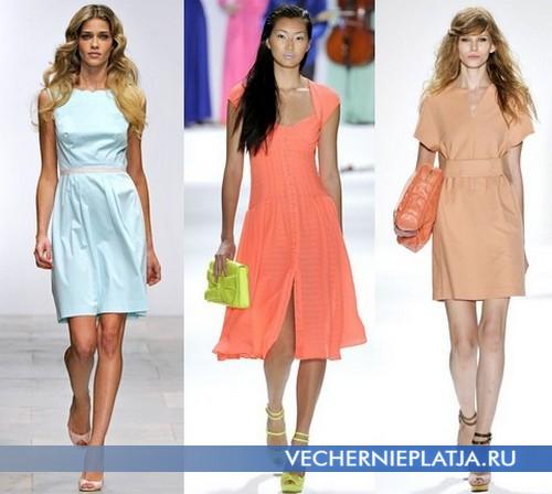 Стильные модные платья летние