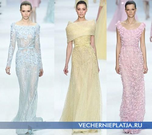 Цветные свадебные платья Elie Saab Весна-Лето 2012