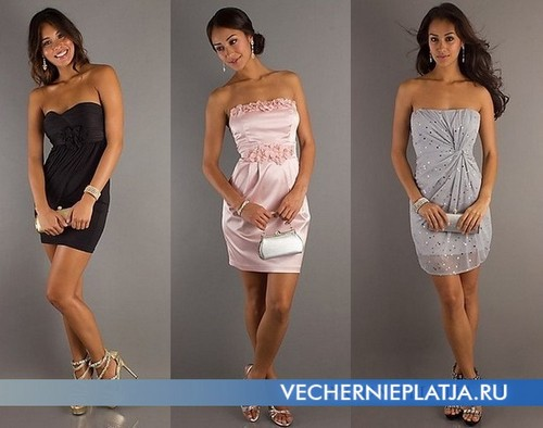 Короткое платье-тюльпан