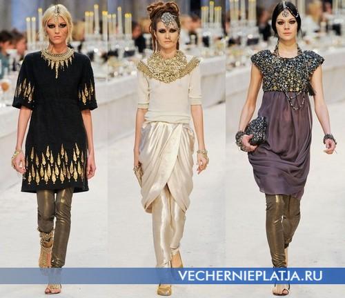Восточные платья с брюками от Chanel