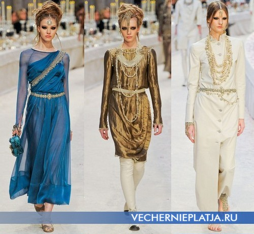 Красивые восточные платья от Шанель